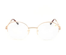 VF 508 Half Rim 18KT Rose Gold (Clear Lens) Front, VF by Vintage Frames, glasses frames, eyeglasses online, eyeglass frames, mens glasses, womens glasses, buy glasses online, designer eyeglasses, vintage sunglasses, retro sunglasses, vintage glasses, sunglass, eyeglass, glasses, lens, vintage frames company, vf