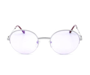 VF 508 Half Rim 18KT White Gold (Smoke Flash Purple) Front, VF by Vintage Frames, glasses frames, eyeglasses online, eyeglass frames, mens glasses, womens glasses, buy glasses online, designer eyeglasses, vintage sunglasses, retro sunglasses, vintage glasses, sunglass, eyeglass, glasses, lens, vintage frames company, vf