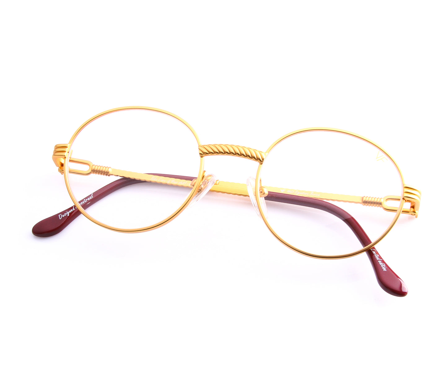 VF 508 18KT Satin Gold (Clear), VF by Vintage Frames , glasses frames, eyeglasses online, eyeglass frames, mens glasses, womens glasses, buy glasses online, designer eyeglasses, vintage sunglasses, retro sunglasses, vintage glasses, sunglass, eyeglass, glasses, lens, vintage frames company, vf