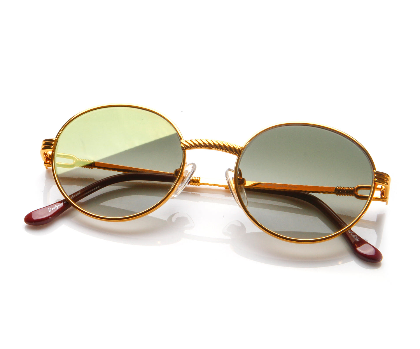 VF 508 18KT Gold (Moss Green), VF by Vintage Frames , glasses frames, eyeglasses online, eyeglass frames, mens glasses, womens glasses, buy glasses online, designer eyeglasses, vintage sunglasses, retro sunglasses, vintage glasses, sunglass, eyeglass, glasses, lens, vintage frames company, vf