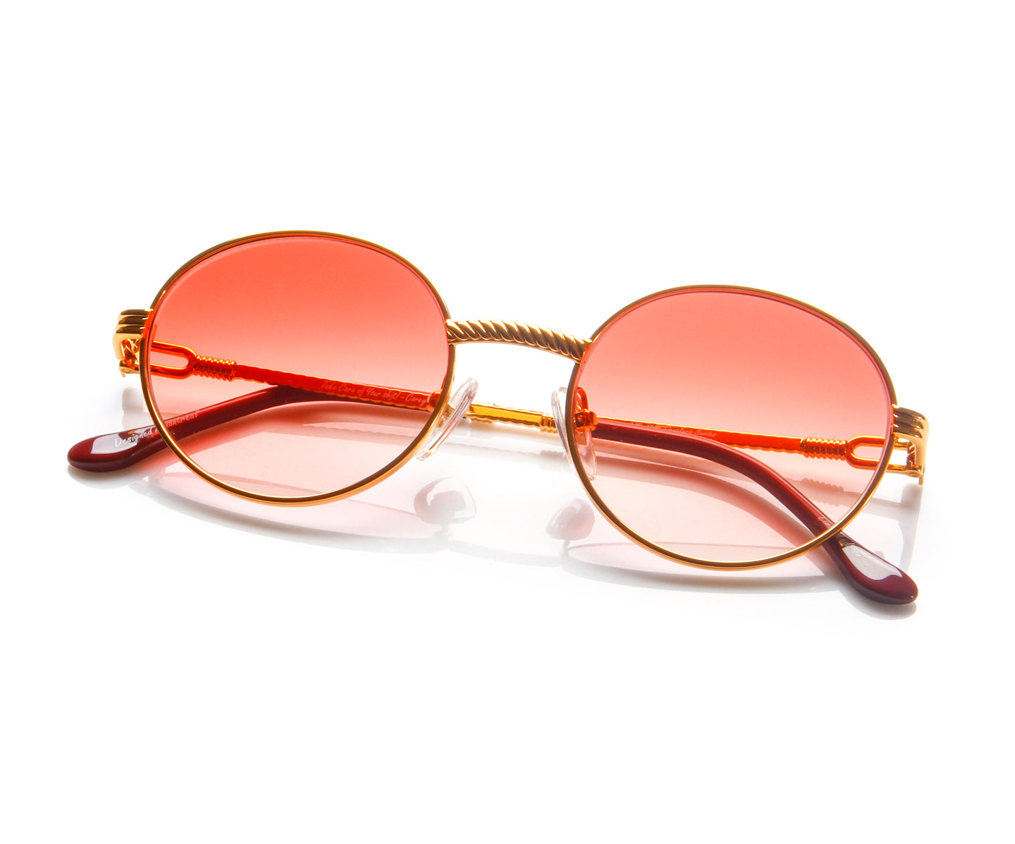 VF 508 18KT Gold Signature Edition (Red Gradient) Thumb, VF by Vintage Frames , glasses frames, eyeglasses online, eyeglass frames, mens glasses, womens glasses, buy glasses online, designer eyeglasses, vintage sunglasses, retro sunglasses, vintage glasses, sunglass, eyeglass, glasses, lens, vintage frames company, vf