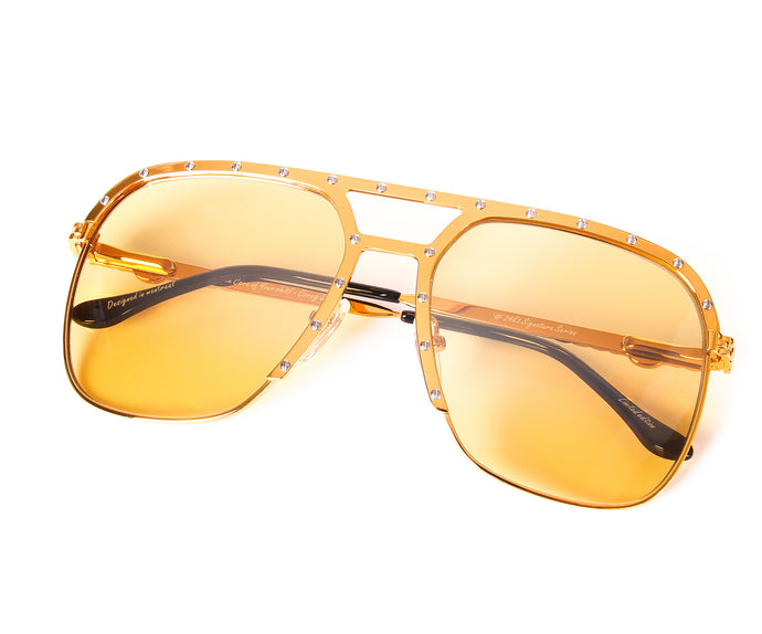 Axel Masterpiece 24kt Gold (Amber), VF Masterpiece, vintage frames, vintage frame, vintage sunglasses, vintage glasses, retro sunglasses, retro glasses, vintage glasses, vintage designer sunglasses, vintage design glasses, eyeglass frames, glasses frames, sunglass frames, sunglass, eyeglass, glasses, lens, jewelry, vintage frames company, vf