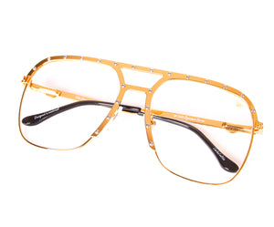 Axel Masterpiece 24kt Gold (Clear), VF Masterpiece, glasses frames, eyeglasses online, eyeglass frames, mens glasses, womens glasses, buy glasses online, designer eyeglasses, vintage sunglasses, retro sunglasses, vintage glasses, sunglass, eyeglass, glasses, lens, vintage frames company, vf