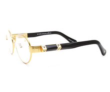 VF The Biz Masterpiece 24KT Gold Signature Edition (Clear) Side, VF Masterpiece, glasses frames, eyeglasses online, eyeglass frames, mens glasses, womens glasses, buy glasses online, designer eyeglasses, vintage sunglasses, retro sunglasses, vintage glasses, sunglass, eyeglass, glasses, lens, vintage frames company, vf