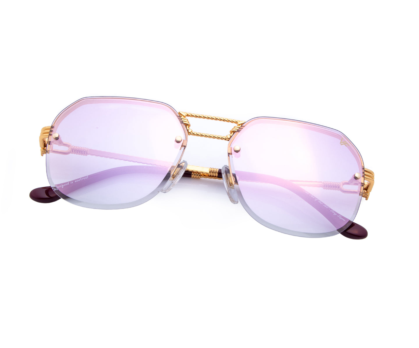 CEO Bevel Drill Mount 18KT Gold (Pastel Mauve), VF Drill Mount , glasses frames, eyeglasses online, eyeglass frames, mens glasses, womens glasses, buy glasses online, designer eyeglasses, vintage sunglasses, retro sunglasses, vintage glasses, sunglass, eyeglass, glasses, lens, vintage frames company, vf