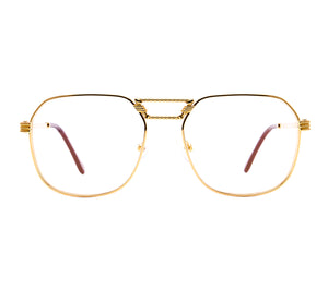 VF CEO Masterpiece 24KT Gold (Clear Flash Gold) Front, VF Masterpiece, glasses frames, eyeglasses online, eyeglass frames, mens glasses, womens glasses, buy glasses online, designer eyeglasses, vintage sunglasses, retro sunglasses, vintage glasses, sunglass, eyeglass, glasses, lens, vintage frames company, vf