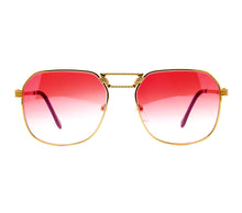 VF CEO Masterpiece 24KT Gold (Red Gradient) Front, VF Masterpiece, glasses frames, eyeglasses online, eyeglass frames, mens glasses, womens glasses, buy glasses online, designer eyeglasses, vintage sunglasses, retro sunglasses, vintage glasses, sunglass, eyeglass, glasses, lens, vintage frames company, vf