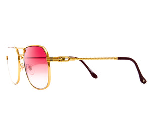 VF CEO Masterpiece 24KT Gold (Red Gradient) Side, VF Masterpiece, glasses frames, eyeglasses online, eyeglass frames, mens glasses, womens glasses, buy glasses online, designer eyeglasses, vintage sunglasses, retro sunglasses, vintage glasses, sunglass, eyeglass, glasses, lens, vintage frames company, vf