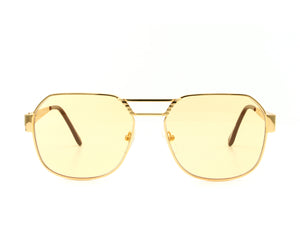 VF Presidential 24KT Gold (Honey Yellow) Front, VF Masterpiece, glasses frames, eyeglasses online, eyeglass frames, mens glasses, womens glasses, buy glasses online, designer eyeglasses, vintage sunglasses, retro sunglasses, vintage glasses, sunglass, eyeglass, glasses, lens, vintage frames company, vf