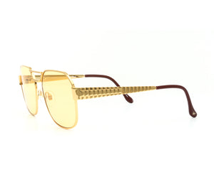 VF Presidential 24KT Gold (Honey Yellow) Side, VF Masterpiece, glasses frames, eyeglasses online, eyeglass frames, mens glasses, womens glasses, buy glasses online, designer eyeglasses, vintage sunglasses, retro sunglasses, vintage glasses, sunglass, eyeglass, glasses, lens, vintage frames company, vf