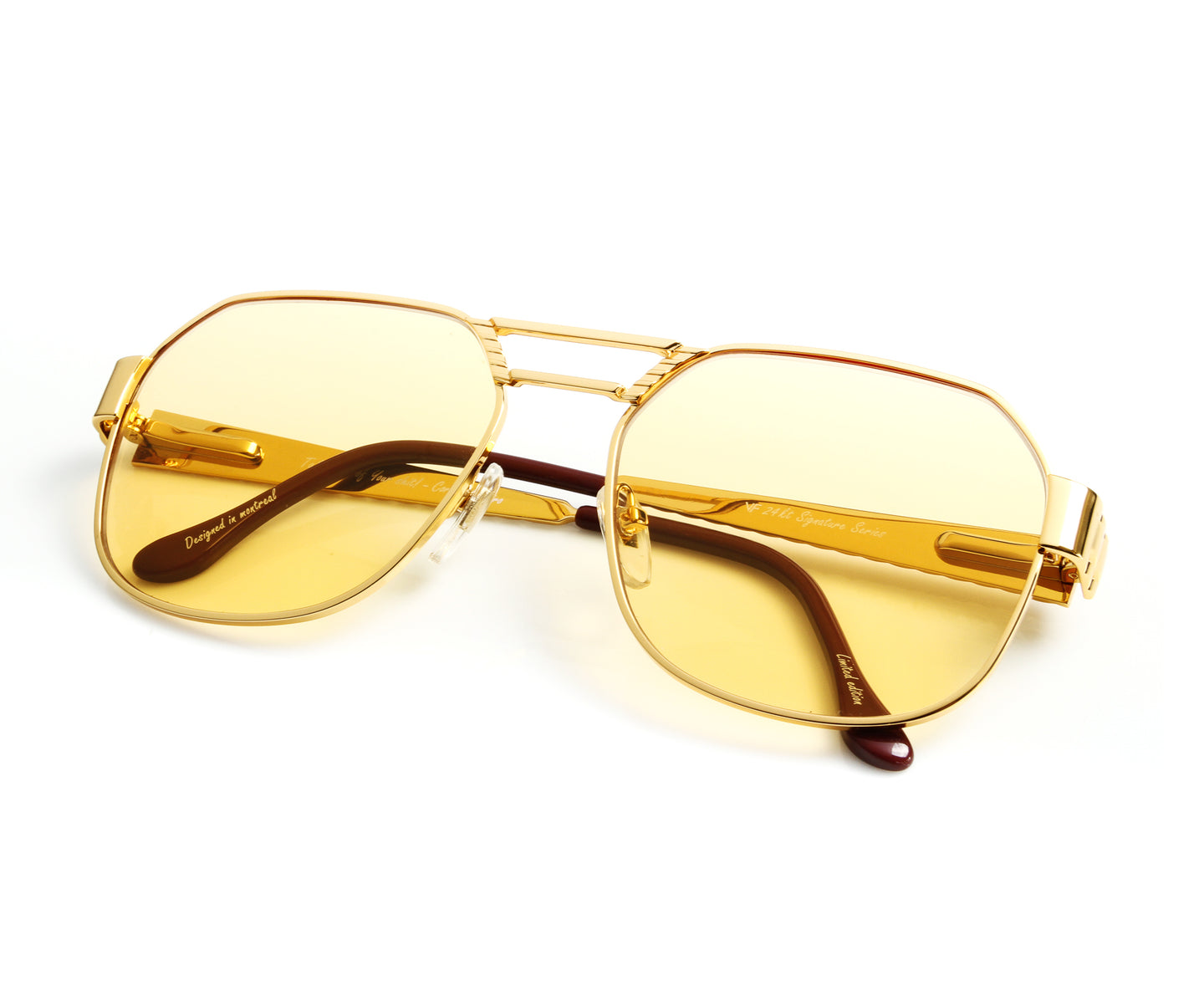 VF CEO Presidential 24KT Gold (Honey Yellow) Thumb, VF Masterpiece , glasses frames, eyeglasses online, eyeglass frames, mens glasses, womens glasses, buy glasses online, designer eyeglasses, vintage sunglasses, retro sunglasses, vintage glasses, sunglass, eyeglass, glasses, lens, vintage frames company, vf