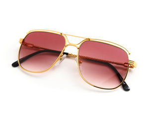 VF OTH Exclusive 24KT Gold (Burgundy), VF by Vintage Frames, vintage frames, vintage frame, vintage sunglasses, vintage glasses, retro sunglasses, retro glasses, vintage glasses, vintage designer sunglasses, vintage design glasses, eyeglass frames, glasses frames, sunglass frames, sunglass, eyeglass, glasses, lens, jewelry, vintage frames company, vf