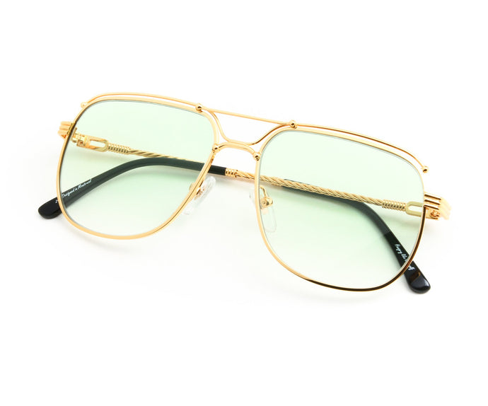 VF OTH Exclusive 18KT Gold (Pastel Green) Thumb, VF by Vintage Frames, vintage frames, vintage frame, vintage sunglasses, vintage glasses, retro sunglasses, retro glasses, vintage glasses, vintage designer sunglasses, vintage design glasses, eyeglass frames, glasses frames, sunglass frames, sunglass, eyeglass, glasses, lens, jewelry, vintage frames company, vf