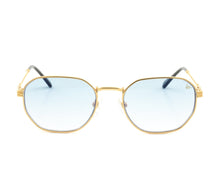 VF Detroit Player 18KT Gold (Sky Blue) Front,VF by Vintage Frames , glasses frames, eyeglasses online, eyeglass frames, mens glasses, womens glasses, buy glasses online, designer eyeglasses, vintage sunglasses, retro sunglasses, vintage glasses, sunglass, eyeglass, glasses, lens, vintage frames company, vf