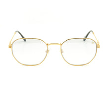 VF Detroit Player 18KT Gold (Gray Gradient) Front, VF by Vintage Frames, glasses frames, eyeglasses online, eyeglass frames, mens glasses, womens glasses, buy glasses online, designer eyeglasses, vintage sunglasses, retro sunglasses, vintage glasses, sunglass, eyeglass, glasses, lens, vintage frames company, vf