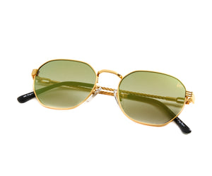 VF Detroit Player XL 18KT Gold (Moss Green), VF Masterpiece, vintage frames, vintage frame, vintage sunglasses, vintage glasses, retro sunglasses, retro glasses, vintage glasses, vintage designer sunglasses, vintage design glasses, eyeglass frames, glasses frames, sunglass frames, sunglass, eyeglass, glasses, lens, jewelry, vintage frames company, vf