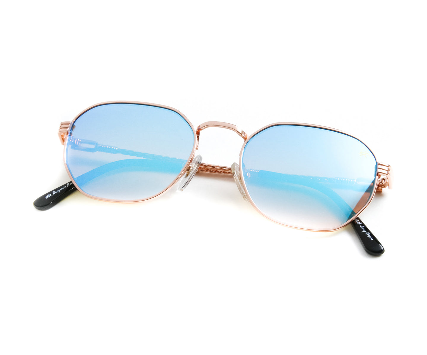 VF Detroit Player 18KT Rose Gold (Blue Peach), VF by Vintage Frames , glasses frames, eyeglasses online, eyeglass frames, mens glasses, womens glasses, buy glasses online, designer eyeglasses, vintage sunglasses, retro sunglasses, vintage glasses, sunglass, eyeglass, glasses, lens, vintage frames company, vf