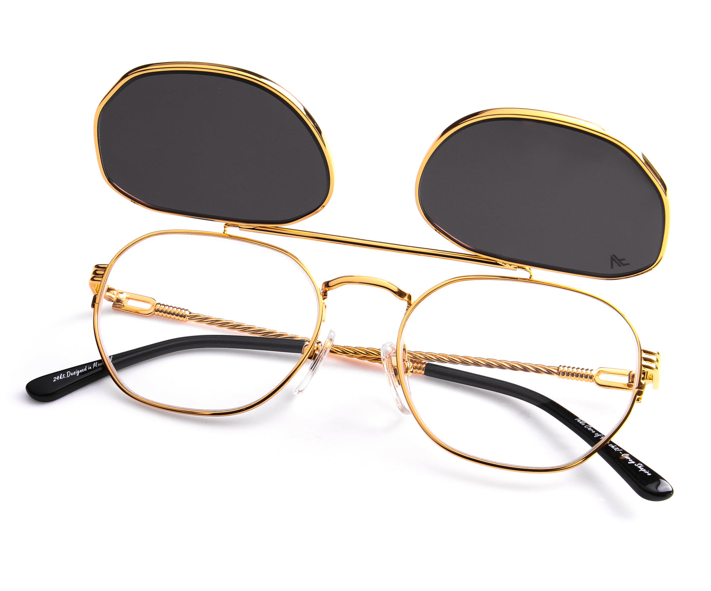 VF Detroit Player Flip 24KT Gold, VF Masterpiece , glasses frames, eyeglasses online, eyeglass frames, mens glasses, womens glasses, buy glasses online, designer eyeglasses, vintage sunglasses, retro sunglasses, vintage glasses, sunglass, eyeglass, glasses, lens, vintage frames company, vf