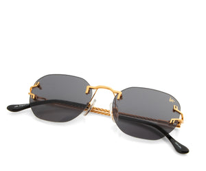 VF V-Decor Drill Mount 24KT Gold (Black), VF Drill Mount, vintage frames, vintage frame, vintage sunglasses, vintage glasses, retro sunglasses, retro glasses, vintage glasses, vintage designer sunglasses, vintage design glasses, eyeglass frames, glasses frames, sunglass frames, sunglass, eyeglass, glasses, lens, jewelry, vintage frames company, vf
