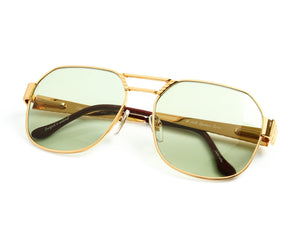 VF Presidential 24KT Gold (Money Green), VF Masterpiece, vintage frames, vintage frame, vintage sunglasses, vintage glasses, retro sunglasses, retro glasses, vintage glasses, vintage designer sunglasses, vintage design glasses, eyeglass frames, glasses frames, sunglass frames, sunglass, eyeglass, glasses, lens, jewelry, vintage frames company, vf