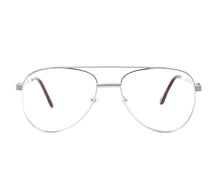 VF Escobar 18KT White Gold (Clear) Front, VF by Vintage Frames, glasses frames, eyeglasses online, eyeglass frames, mens glasses, womens glasses, buy glasses online, designer eyeglasses, vintage sunglasses, retro sunglasses, vintage glasses, sunglass, eyeglass, glasses, lens, vintage frames company, vf