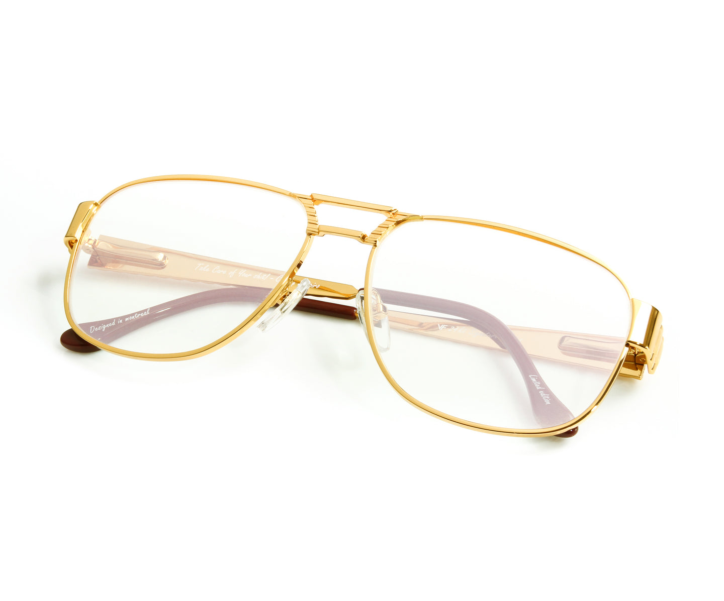 VF Oyster 24KT Gold (Clear Flash Green) Thumb, VF Masterpiece , glasses frames, eyeglasses online, eyeglass frames, mens glasses, womens glasses, buy glasses online, designer eyeglasses, vintage sunglasses, retro sunglasses, vintage glasses, sunglass, eyeglass, glasses, lens, vintage frames company, vf