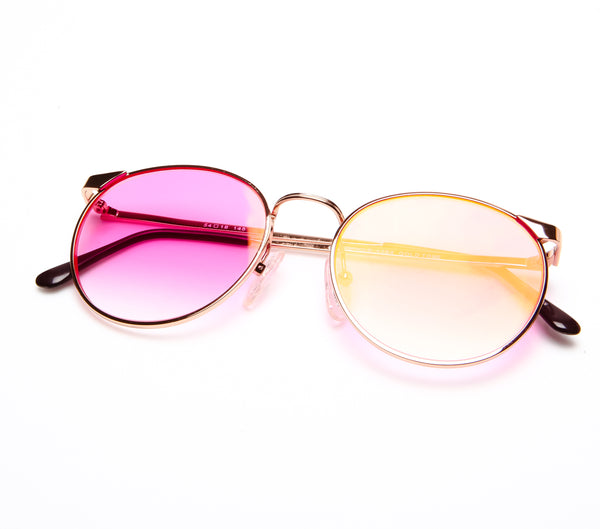 VF by Vintage Frames Fetish (Hot Pink Gradient Flash Gold Flat Lens ...