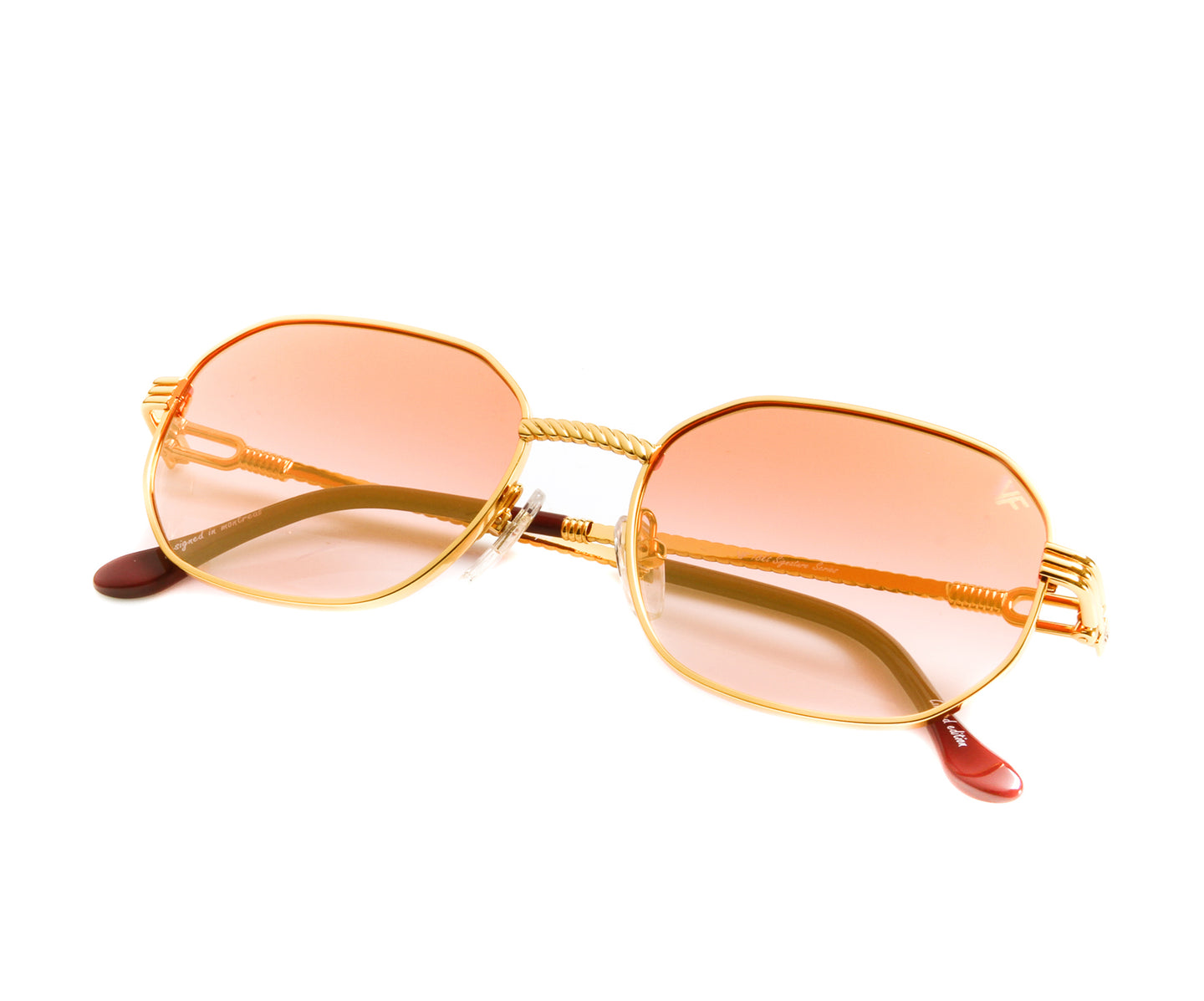VF Hustler 18KT Gold (Red) Thumbnail, VF by Vintage Frames , glasses frames, eyeglasses online, eyeglass frames, mens glasses, womens glasses, buy glasses online, designer eyeglasses, vintage sunglasses, retro sunglasses, vintage glasses, sunglass, eyeglass, glasses, lens, vintage frames company, vf