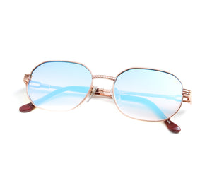 VF Hustler 18KT Rose Gold (Blue Peach), VF by Vintage Frames, vintage frames, vintage frame, vintage sunglasses, vintage glasses, retro sunglasses, retro glasses, vintage glasses, vintage designer sunglasses, vintage design glasses, eyeglass frames, glasses frames, sunglass frames, sunglass, eyeglass, glasses, lens, jewelry, vintage frames company, vf