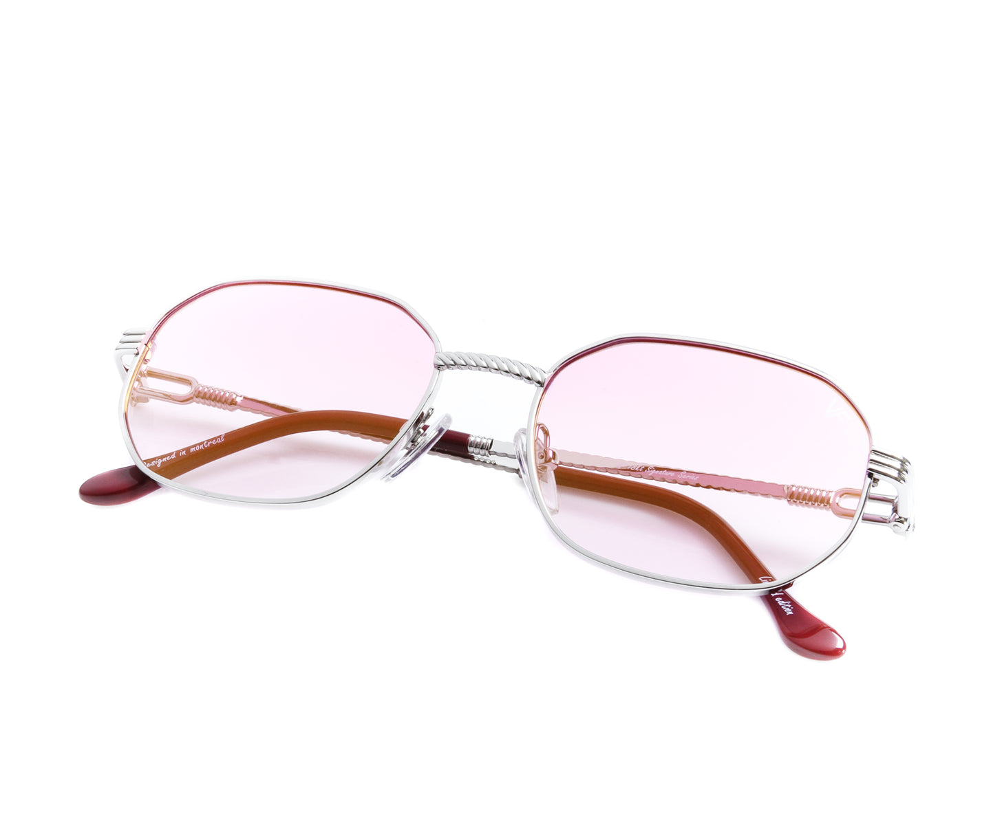 VF Hustler 18KT White Gold (Candy Pink), VF by Vintage Frames , glasses frames, eyeglasses online, eyeglass frames, mens glasses, womens glasses, buy glasses online, designer eyeglasses, vintage sunglasses, retro sunglasses, vintage glasses, sunglass, eyeglass, glasses, lens, vintage frames company, vf