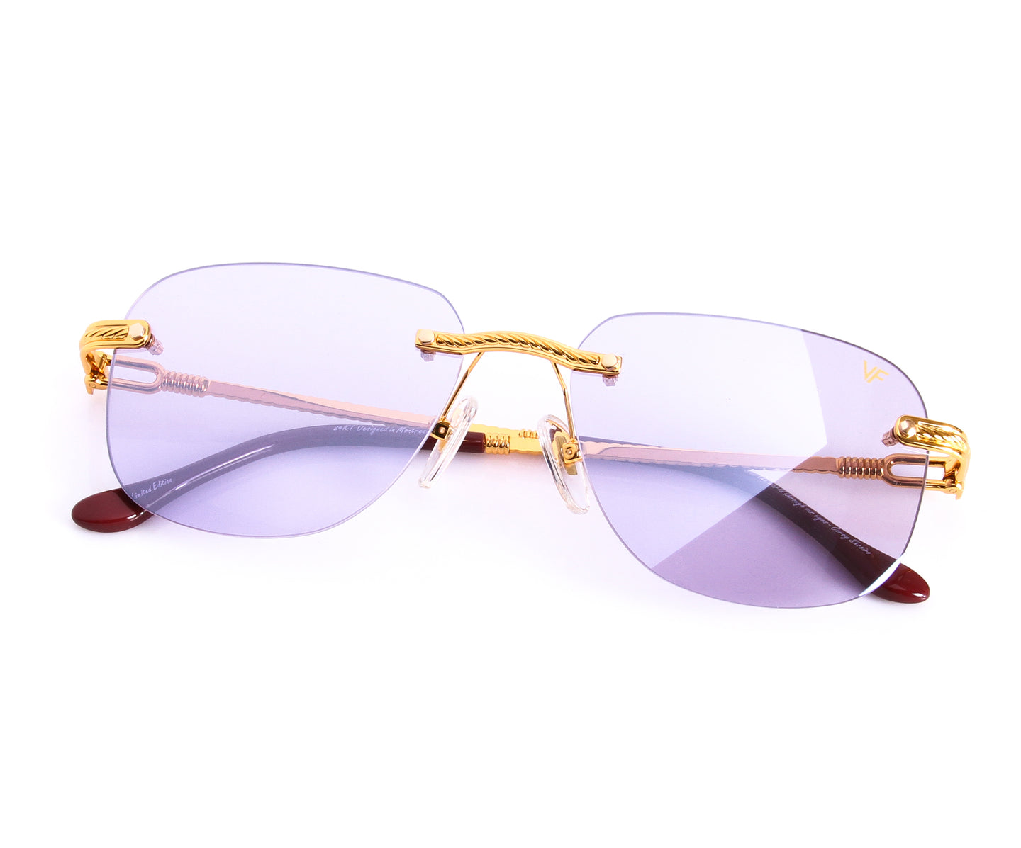 VF Hustler Drill Mount 24KT Gold (Light Purple), VF by Vintage Frames , glasses frames, eyeglasses online, eyeglass frames, mens glasses, womens glasses, buy glasses online, designer eyeglasses, vintage sunglasses, retro sunglasses, vintage glasses, sunglass, eyeglass, glasses, lens, vintage frames company, vf