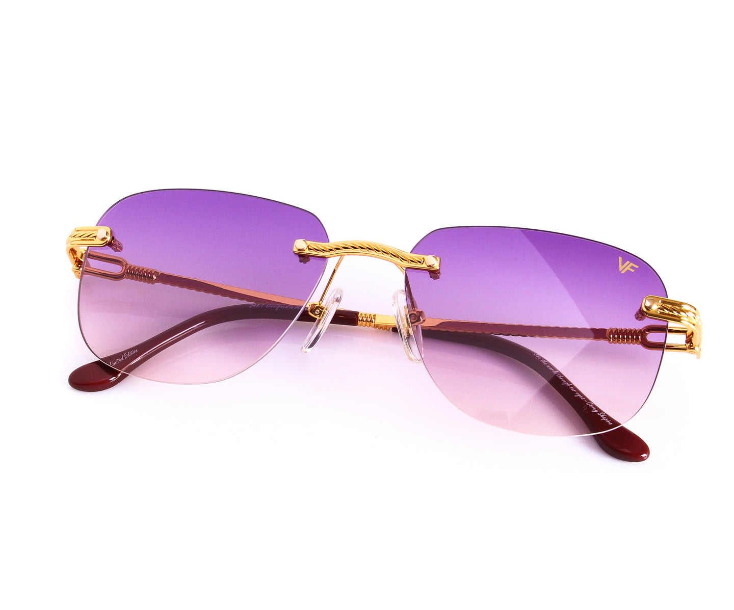 VF Hustler Drill Mount 24KT Gold (Purple), VF Drill Mount , glasses frames, eyeglasses online, eyeglass frames, mens glasses, womens glasses, buy glasses online, designer eyeglasses, vintage sunglasses, retro sunglasses, vintage glasses, sunglass, eyeglass, glasses, lens, vintage frames company, vf