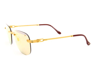 VF Hustler Drill Mount 24KT Gold (Smoke Flash Red), VF by Vintage Frames, glasses frames, eyeglasses online, eyeglass frames, mens glasses, womens glasses, buy glasses online, designer eyeglasses, vintage sunglasses, retro sunglasses, vintage glasses, sunglass, eyeglass, glasses, lens, vintage frames company, vf