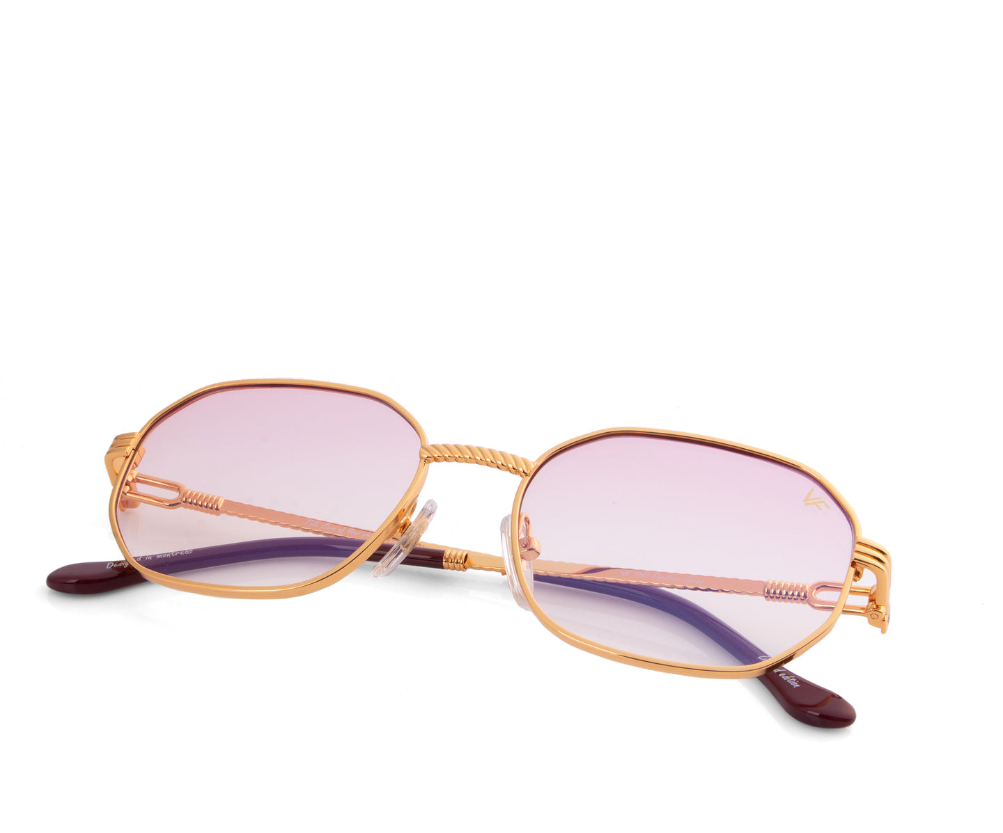 VF Hustler 18KT Gold (Baby Pink), VF by Vintage Frames , glasses frames, eyeglasses online, eyeglass frames, mens glasses, womens glasses, buy glasses online, designer eyeglasses, vintage sunglasses, retro sunglasses, vintage glasses, sunglass, eyeglass, glasses, lens, vintage frames company, vf