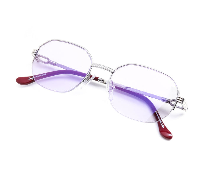 VF Hustler Half Rim 18KT White Gold (Smoke Flash Purple) Thumb, VF by Vintage Frames, vintage frames, vintage frame, vintage sunglasses, vintage glasses, retro sunglasses, retro glasses, vintage glasses, vintage designer sunglasses, vintage design glasses, eyeglass frames, glasses frames, sunglass frames, sunglass, eyeglass, glasses, lens, jewelry, vintage frames company, vf