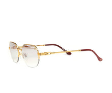 VF Hustler Half Rim 18KT Gold (Brown Smoke) Side, VF by Vintage Frames, glasses frames, eyeglasses online, eyeglass frames, mens glasses, womens glasses, buy glasses online, designer eyeglasses, vintage sunglasses, retro sunglasses, vintage glasses, sunglass, eyeglass, glasses, lens, vintage frames company, vf