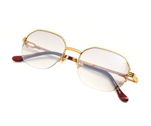 VF Hustler Half Rim 18KT Gold (Brown Smoke) Thumb, VF by Vintage Frames, glasses frames, eyeglasses online, eyeglass frames, mens glasses, womens glasses, buy glasses online, designer eyeglasses, vintage sunglasses, retro sunglasses, vintage glasses, sunglass, eyeglass, glasses, lens, vintage frames company, vf