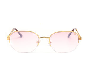 VF Hustler Half Rim 18KT Gold (Nickel Pink) Front, VF by Vintage Frames, glasses frames, eyeglasses online, eyeglass frames, mens glasses, womens glasses, buy glasses online, designer eyeglasses, vintage sunglasses, retro sunglasses, vintage glasses, sunglass, eyeglass, glasses, lens, vintage frames company, vf