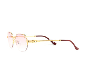 VF Hustler Half Rim 18KT Gold (Nickel Pink) Side, VF by Vintage Frames, glasses frames, eyeglasses online, eyeglass frames, mens glasses, womens glasses, buy glasses online, designer eyeglasses, vintage sunglasses, retro sunglasses, vintage glasses, sunglass, eyeglass, glasses, lens, vintage frames company, vf