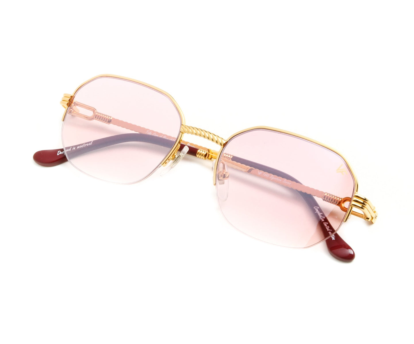 VF Hustler Half Rim 18KT Gold (Nickel Pink) Thumb, VF by Vintage Frames , glasses frames, eyeglasses online, eyeglass frames, mens glasses, womens glasses, buy glasses online, designer eyeglasses, vintage sunglasses, retro sunglasses, vintage glasses, sunglass, eyeglass, glasses, lens, vintage frames company, vf