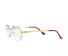 VF Hustler Half Rim 18KT Gold (Tiffany Blue) SIde, VF Half-Rim, glasses frames, eyeglasses online, eyeglass frames, mens glasses, womens glasses, buy glasses online, designer eyeglasses, vintage sunglasses, retro sunglasses, vintage glasses, sunglass, eyeglass, glasses, lens, vintage frames company, vf