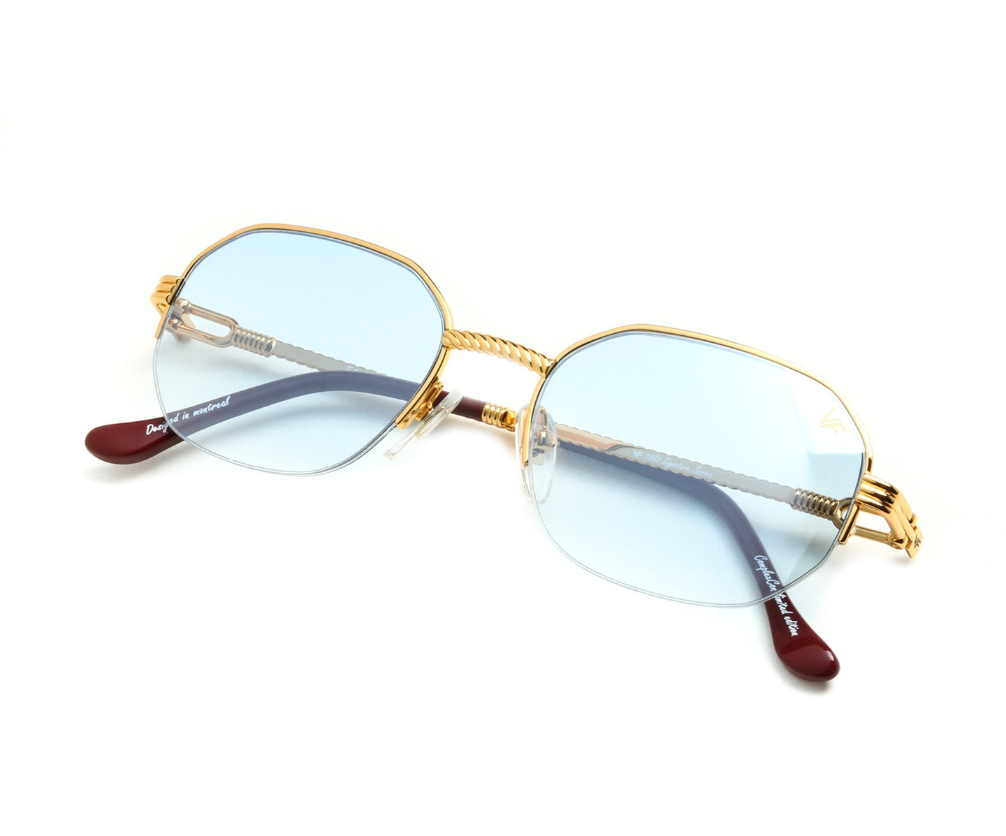 VF Hustler Half Rim 18KT Gold (Tiffany Blue) Thumb, VF Half-Rim , glasses frames, eyeglasses online, eyeglass frames, mens glasses, womens glasses, buy glasses online, designer eyeglasses, vintage sunglasses, retro sunglasses, vintage glasses, sunglass, eyeglass, glasses, lens, vintage frames company, vf