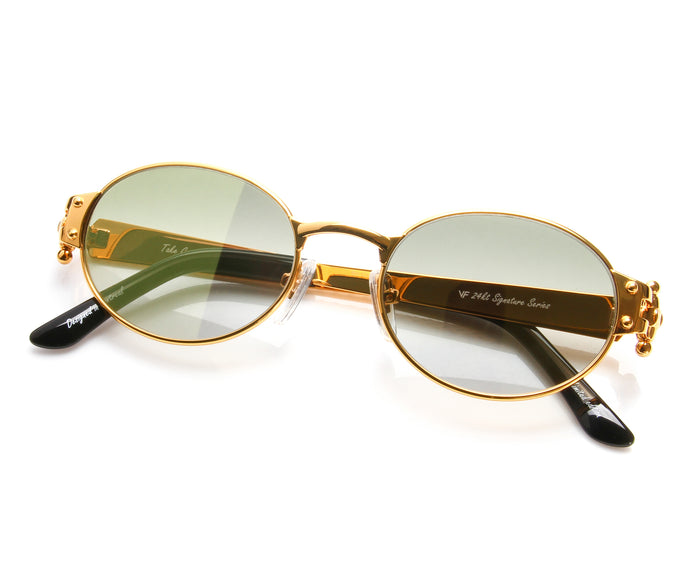 VF 2000 24KT Gold Masterpiece (Moss Green), VF Masterpiece, vintage frames, vintage frame, vintage sunglasses, vintage glasses, retro sunglasses, retro glasses, vintage glasses, vintage designer sunglasses, vintage design glasses, eyeglass frames, glasses frames, sunglass frames, sunglass, eyeglass, glasses, lens, jewelry, vintage frames company, vf