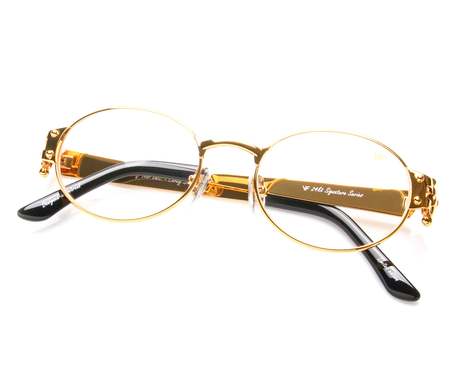 VF 2000 24KT Gold Masterpiece (Clear), VF Masterpiece , glasses frames, eyeglasses online, eyeglass frames, mens glasses, womens glasses, buy glasses online, designer eyeglasses, vintage sunglasses, retro sunglasses, vintage glasses, sunglass, eyeglass, glasses, lens, vintage frames company, vf
