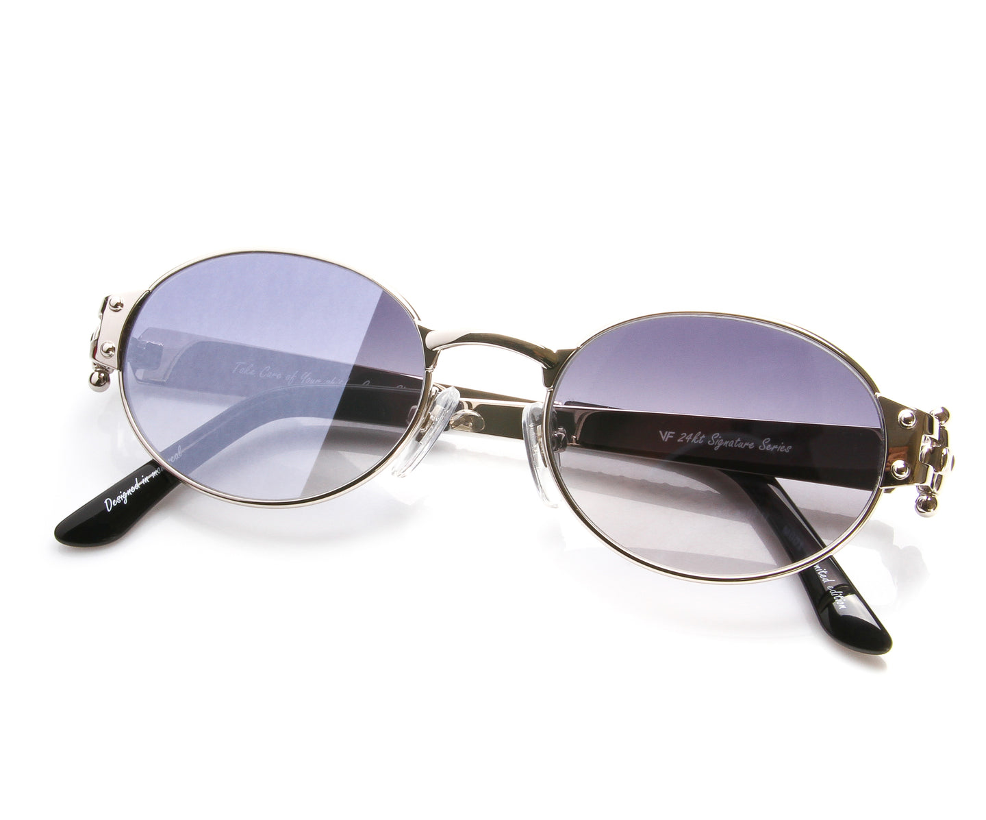 VF 2000 24KT White Gold Masterpiece (Gray Flash Blue), VF Masterpiece , glasses frames, eyeglasses online, eyeglass frames, mens glasses, womens glasses, buy glasses online, designer eyeglasses, vintage sunglasses, retro sunglasses, vintage glasses, sunglass, eyeglass, glasses, lens, vintage frames company, vf