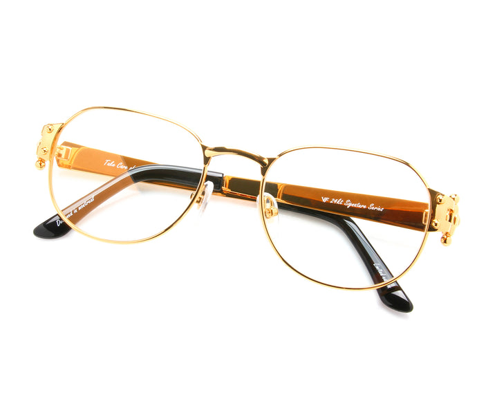 VF 1999 24KT Gold Masterpiece (Flash Gold), VF Masterpiece, vintage frames, vintage frame, vintage sunglasses, vintage glasses, retro sunglasses, retro glasses, vintage glasses, vintage designer sunglasses, vintage design glasses, eyeglass frames, glasses frames, sunglass frames, sunglass, eyeglass, glasses, lens, jewelry, vintage frames company, vf