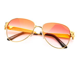 VF 2001 24KT Gold Masterpiece (Red Gradient), VF Masterpiece, vintage frames, vintage frame, vintage sunglasses, vintage glasses, retro sunglasses, retro glasses, vintage glasses, vintage designer sunglasses, vintage design glasses, eyeglass frames, glasses frames, sunglass frames, sunglass, eyeglass, glasses, lens, jewelry, vintage frames company, vf