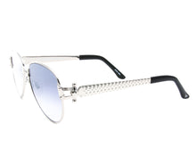 VF 2001 24KT White Gold Masterpiece (Gray Flash Blue), VF Masterpiece, glasses frames, eyeglasses online, eyeglass frames, mens glasses, womens glasses, buy glasses online, designer eyeglasses, vintage sunglasses, retro sunglasses, vintage glasses, sunglass, eyeglass, glasses, lens, vintage frames company, vf