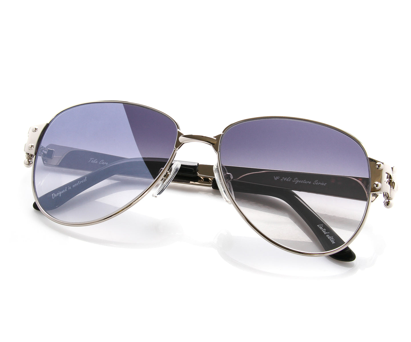 VF 2001 24KT White Gold Masterpiece (Gray Flash Blue), VF Masterpiece , glasses frames, eyeglasses online, eyeglass frames, mens glasses, womens glasses, buy glasses online, designer eyeglasses, vintage sunglasses, retro sunglasses, vintage glasses, sunglass, eyeglass, glasses, lens, vintage frames company, vf