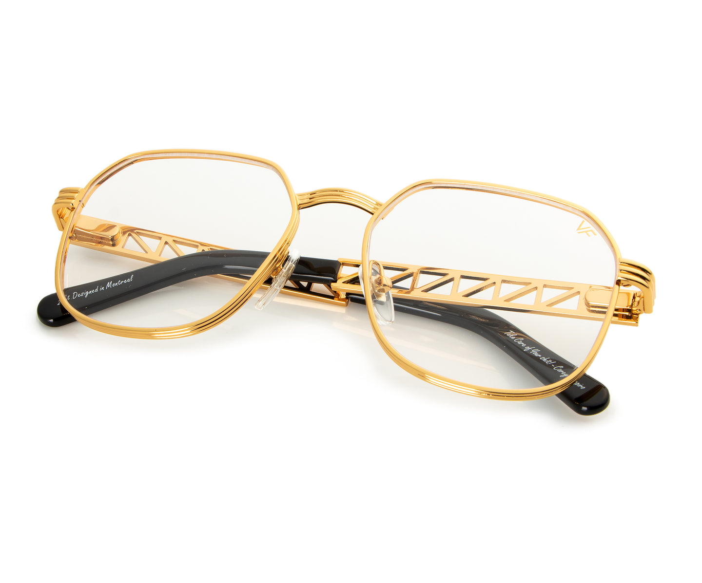 VF Jacques Cartier CEO 24KT Gold (Clear), VF Masterpiece , glasses frames, eyeglasses online, eyeglass frames, mens glasses, womens glasses, buy glasses online, designer eyeglasses, vintage sunglasses, retro sunglasses, vintage glasses, sunglass, eyeglass, glasses, lens, vintage frames company, vf
